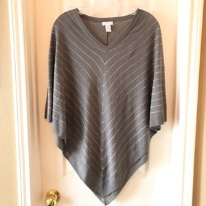 Chico's V-Neck Poncho Sweater